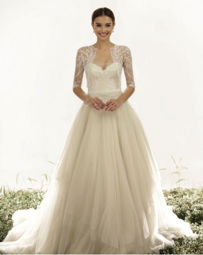 bridal gown traditional conservative